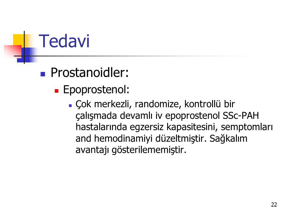 Tedavi Prostanoidler: Epoprostenol: