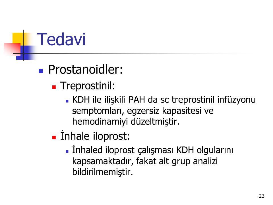 Tedavi Prostanoidler: Treprostinil: İnhale iloprost: