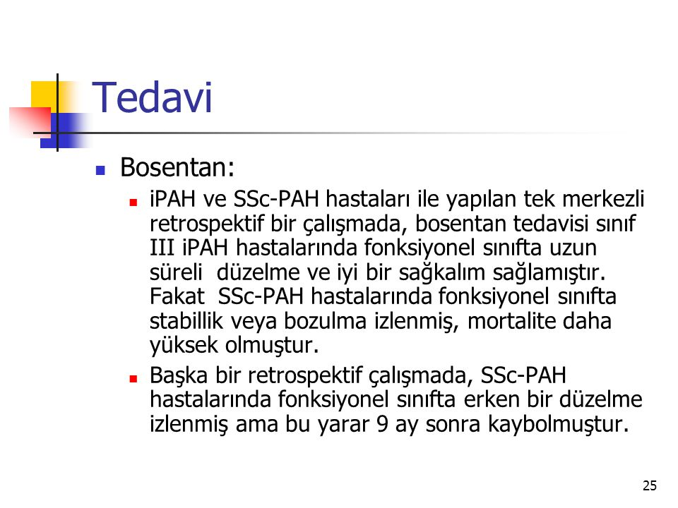 Tedavi Bosentan: