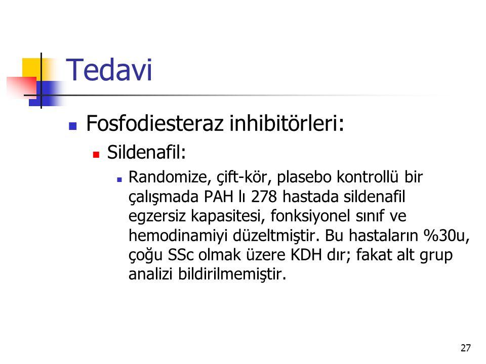 Tedavi Fosfodiesteraz inhibitörleri: Sildenafil: