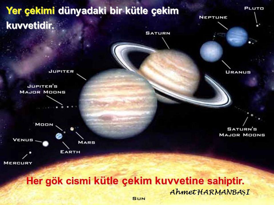 Her gök cismi kütle çekim kuvvetine sahiptir.