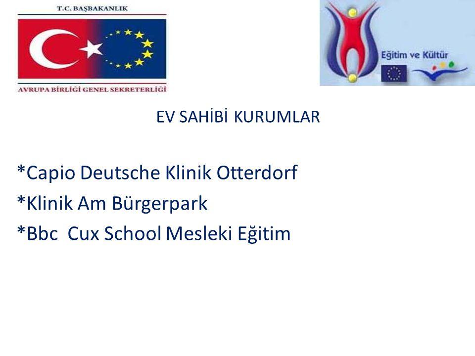 EV SAHİBİ KURUMLAR. Capio Deutsche Klinik Otterdorf