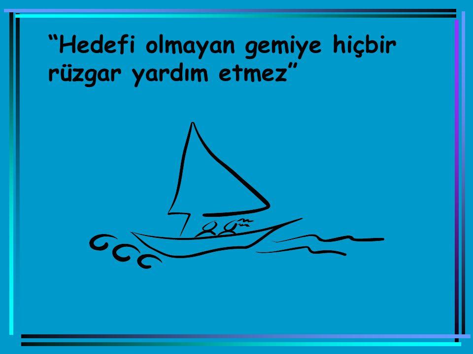 Hedefi olmayan gemiye hiçbir rüzgar yardım etmez
