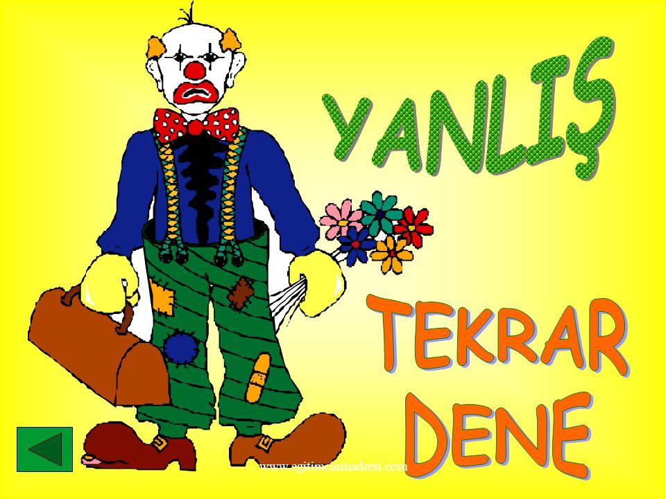 YANLIŞ TEKRAR DENE www.egitimcininadresi.com