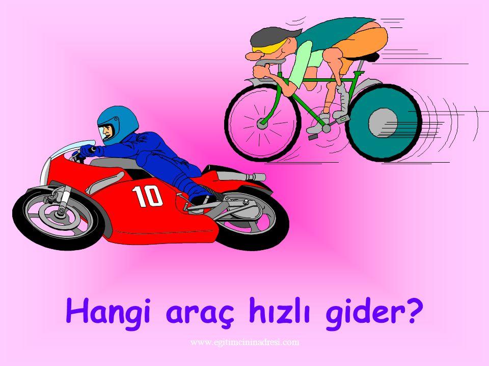 Hangi araç hızlı gider www.egitimcininadresi.com
