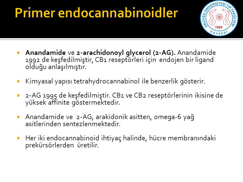 Primer endocannabinoidler