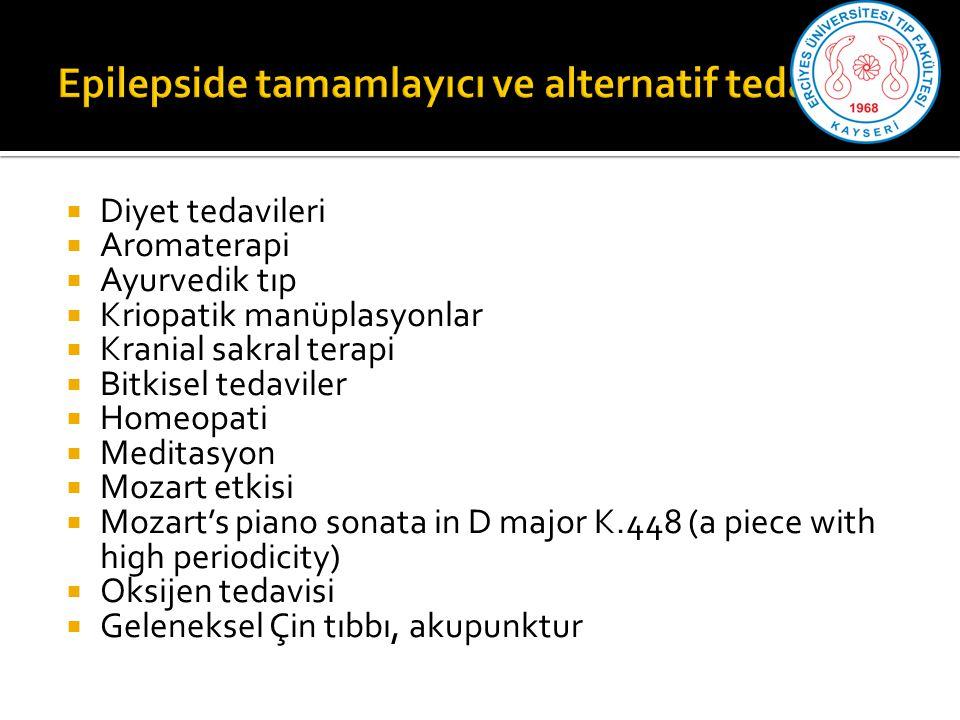 Epilepside tamamlayıcı ve alternatif tedaviler