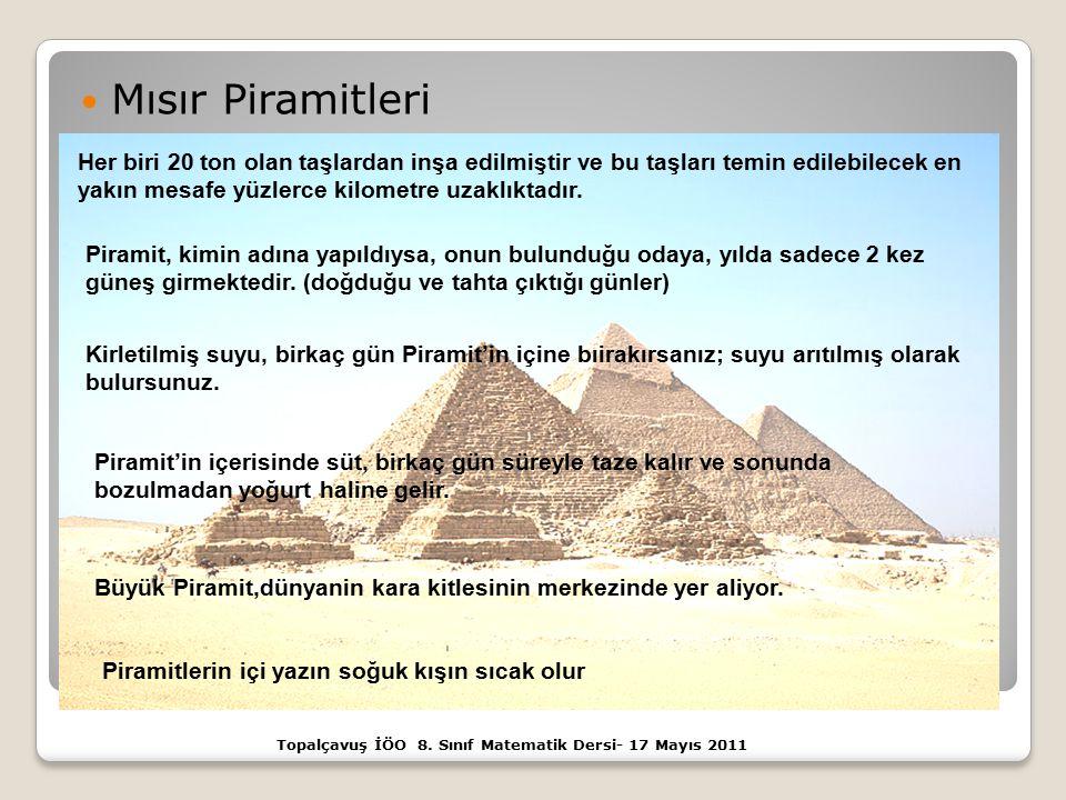 Topalçavuş İÖO 8. Sınıf Matematik Dersi- 17 Mayıs 2011