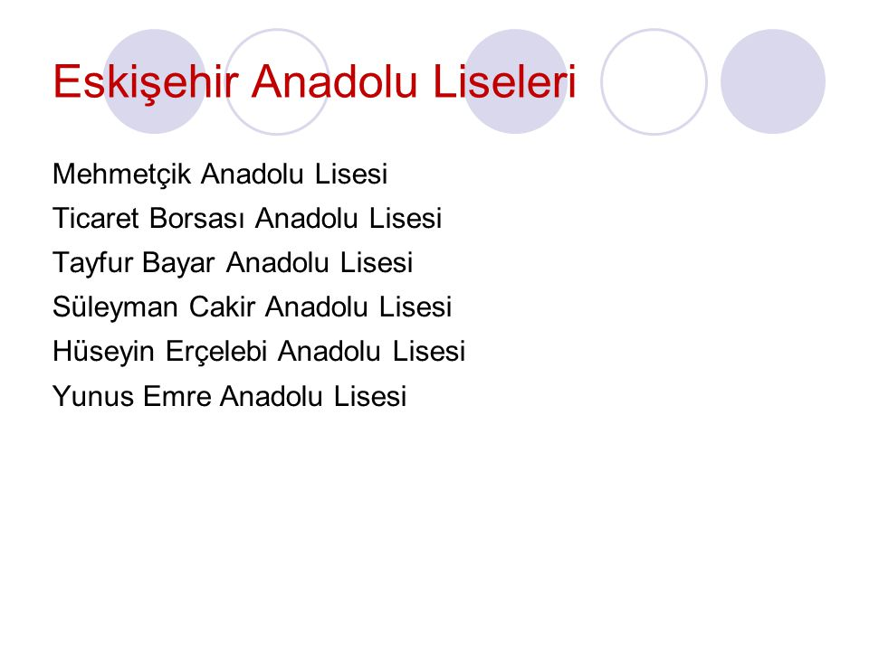 Eskişehir Anadolu Liseleri