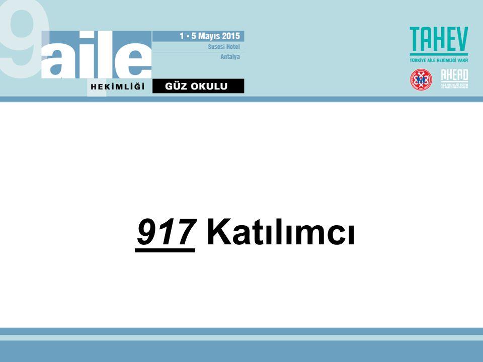 917 Katılımcı