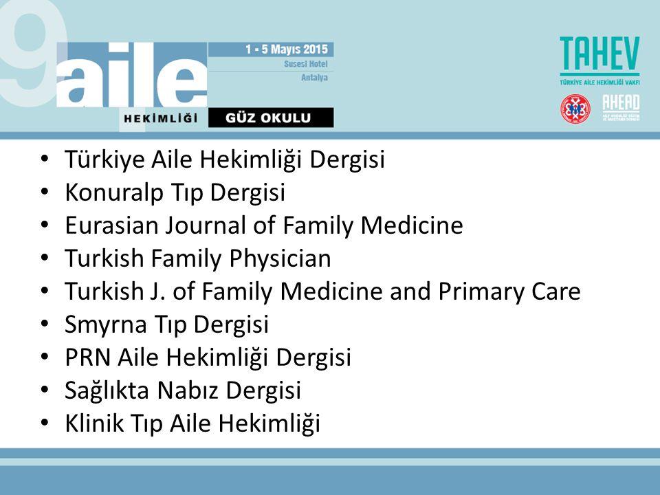 Türkiye Aile Hekimliği Dergisi