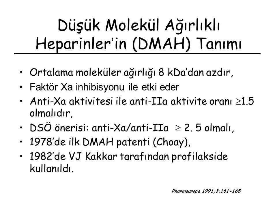 Düşük Molekül Ağırlıklı Heparinler'in (DMAH) Tanımı