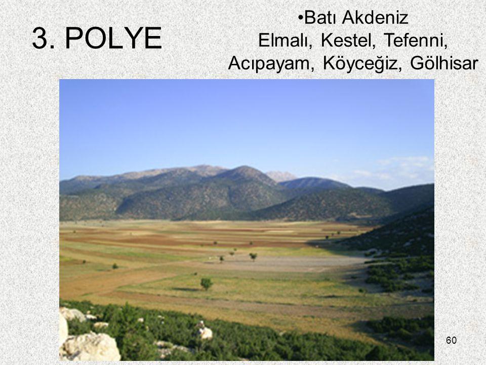 Batı Akdeniz Elmalı, Kestel, Tefenni, Acıpayam, Köyceğiz, Gölhisar