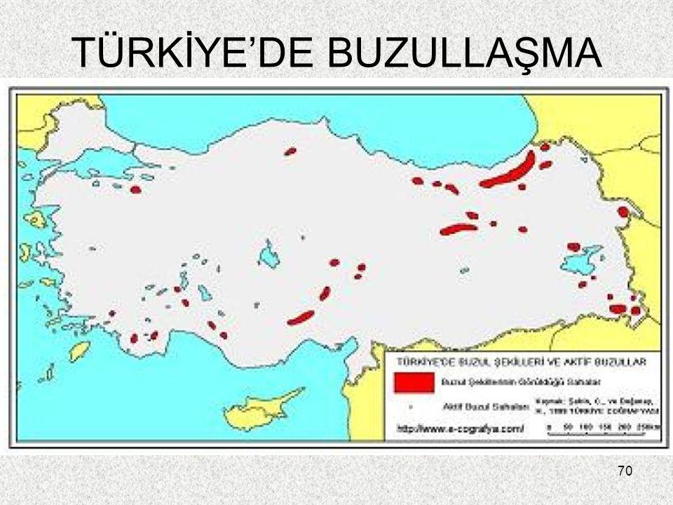 TÜRKİYE'DE BUZULLAŞMA