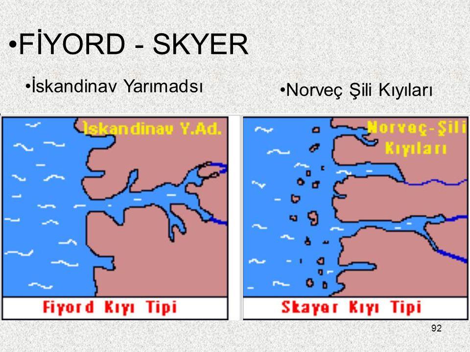 FİYORD - SKYER İskandinav Yarımadsı Norveç Şili Kıyıları