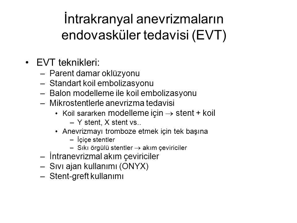 İntrakranyal anevrizmaların endovasküler tedavisi (EVT)