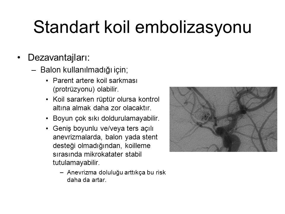 Standart koil embolizasyonu