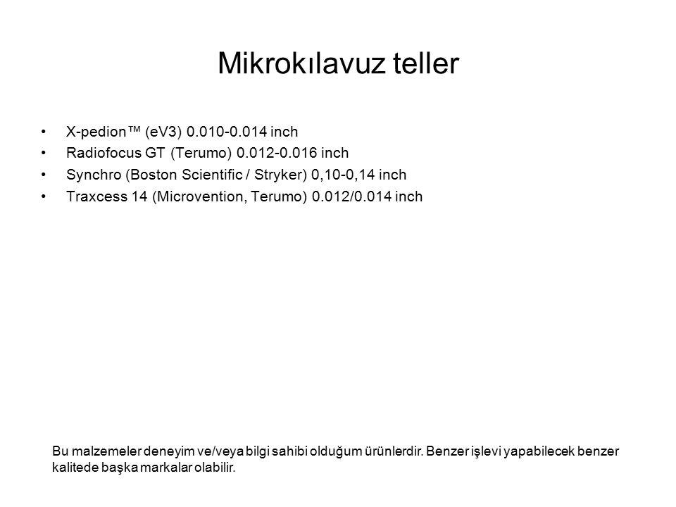 Mikrokılavuz teller X-pedion™ (eV3) 0.010-0.014 inch