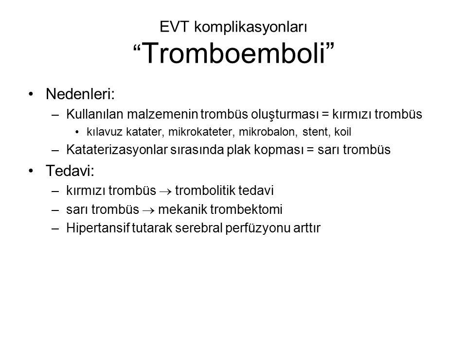 EVT komplikasyonları Tromboemboli