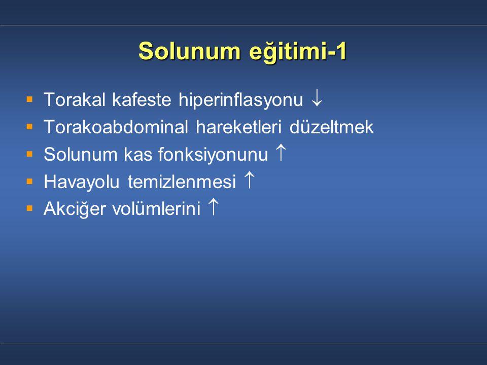 Solunum eğitimi-1 Torakal kafeste hiperinflasyonu 