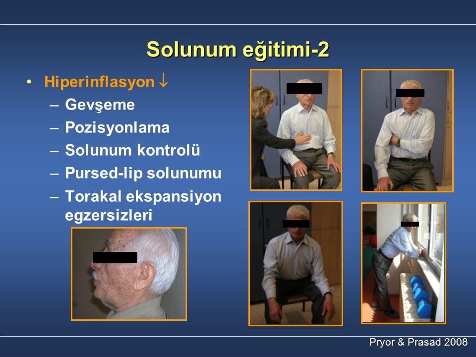 Solunum eğitimi-2 Hiperinflasyon  Gevşeme Pozisyonlama