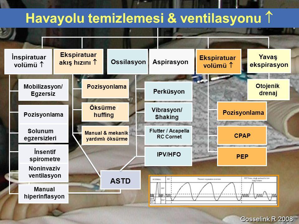 Havayolu temizlemesi & ventilasyonu  Ekspiratuar akış hızını 