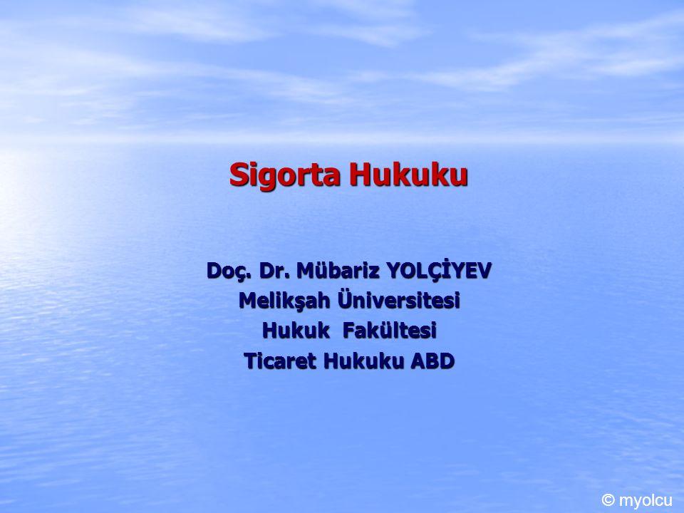 Doç. Dr. Mübariz YOLÇİYEV Melikşah Üniversitesi