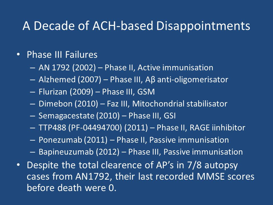 A Decade of ACH-based Disappointments