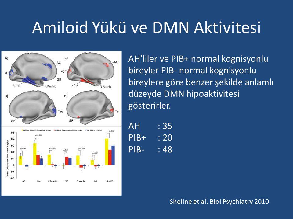 Amiloid Yükü ve DMN Aktivitesi