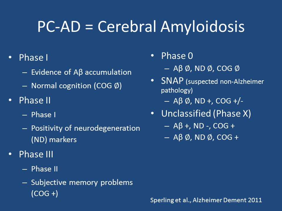 PC-AD = Cerebral Amyloidosis