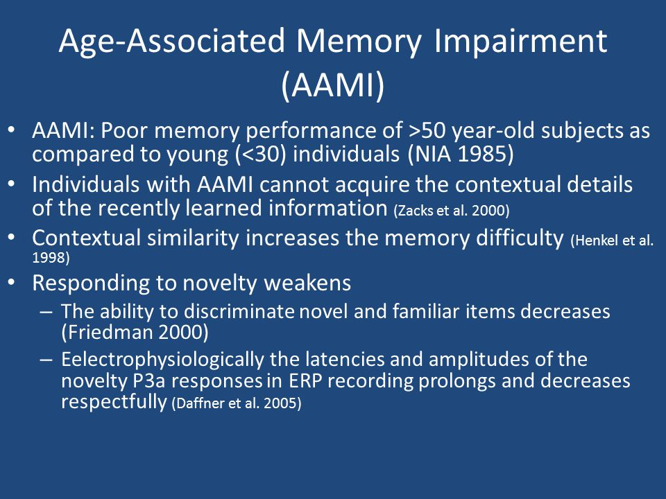 Age-Associated Memory Impairment (AAMI)