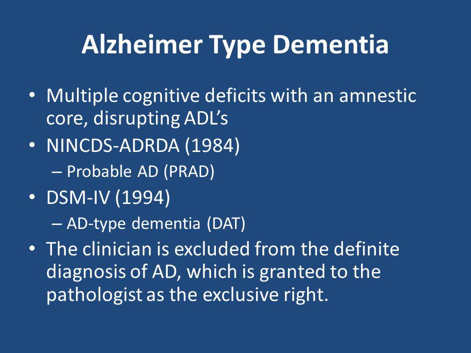 Alzheimer Type Dementia