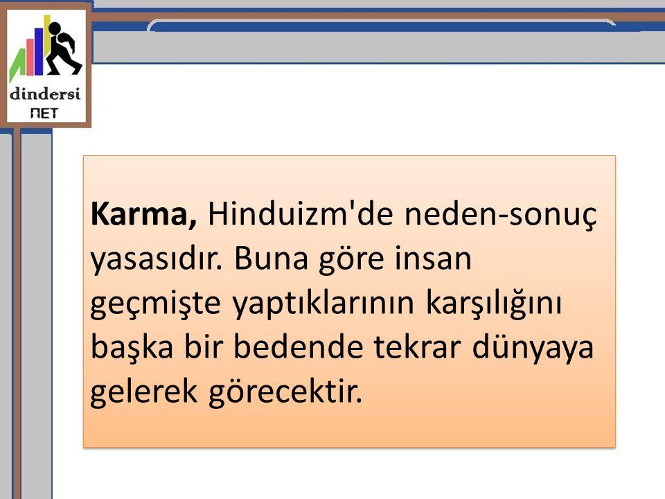 Karma, Hinduizm de neden-sonuç yasasıdır