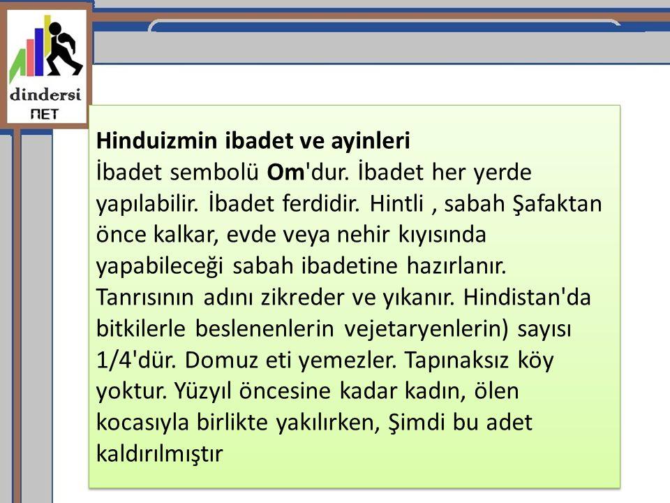 Hinduizmin ibadet ve ayinleri İbadet sembolü Om dur