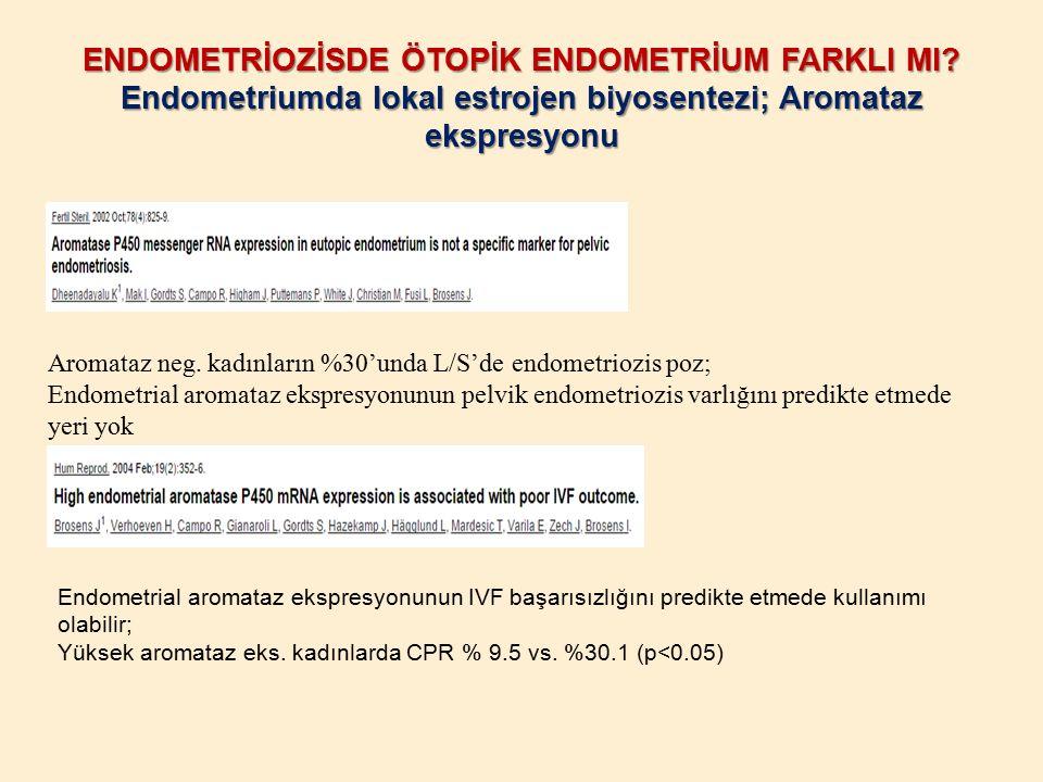 ENDOMETRİOZİSDE ÖTOPİK ENDOMETRİUM FARKLI MI