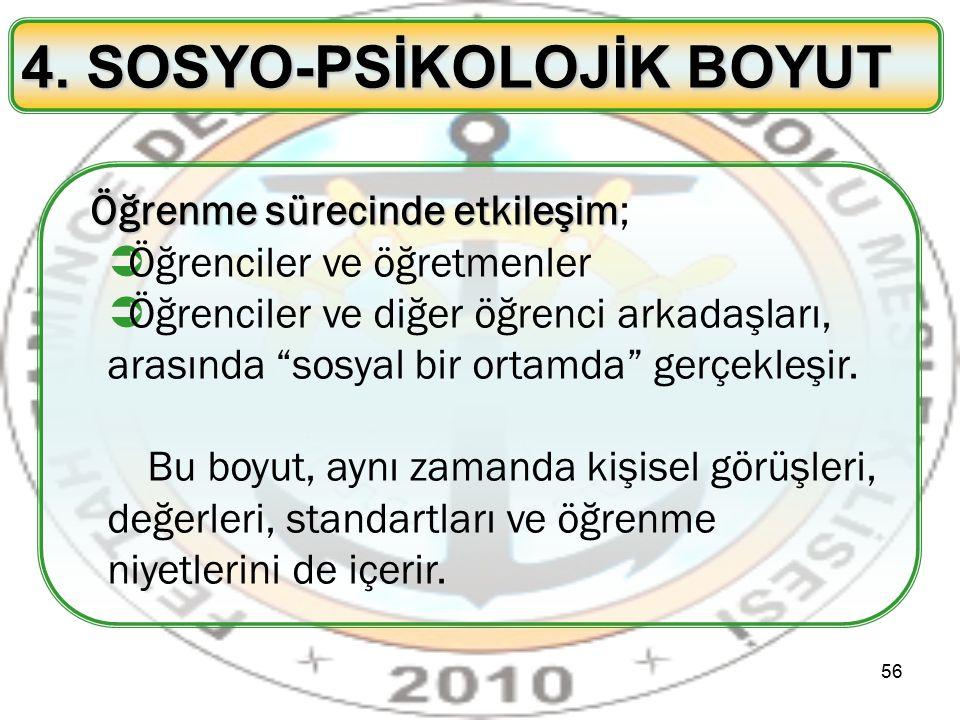4. SOSYO-PSİKOLOJİK BOYUT