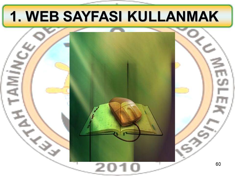 1. WEB SAYFASI KULLANMAK