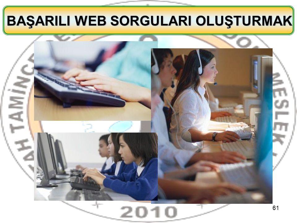 BAŞARILI WEB SORGULARI OLUŞTURMAK