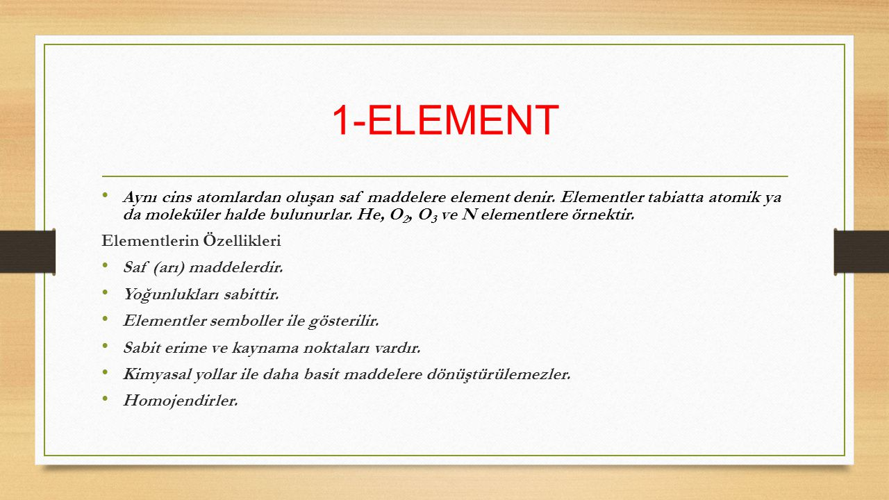 1-ELEMENT