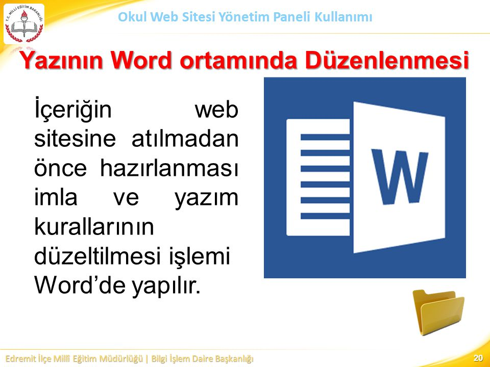 Yazının Word ortamında Düzenlenmesi