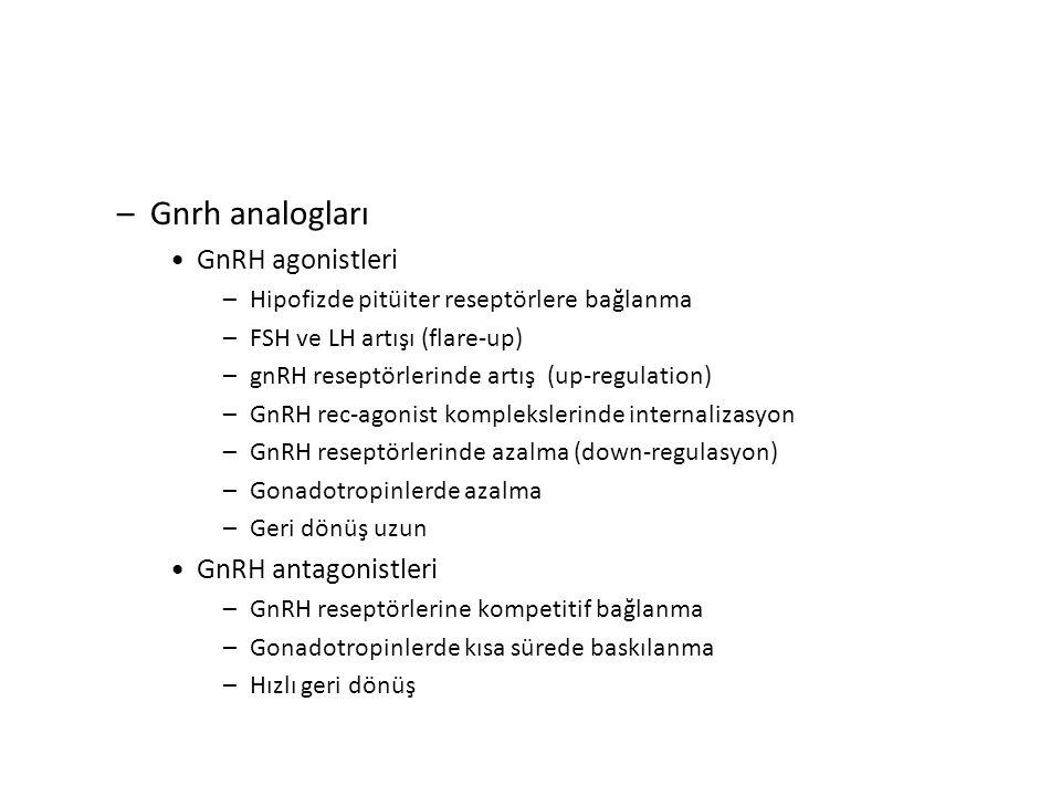 Gnrh analogları GnRH agonistleri GnRH antagonistleri