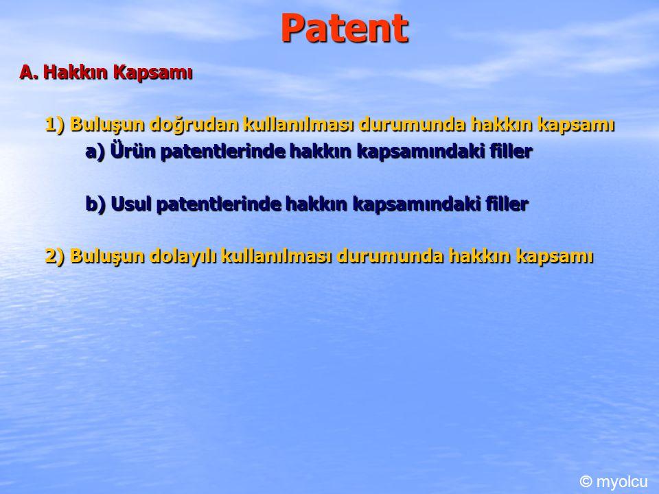 Patent A. Hakkın Kapsamı