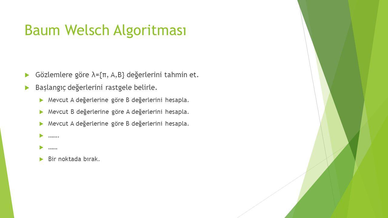 Baum Welsch Algoritması