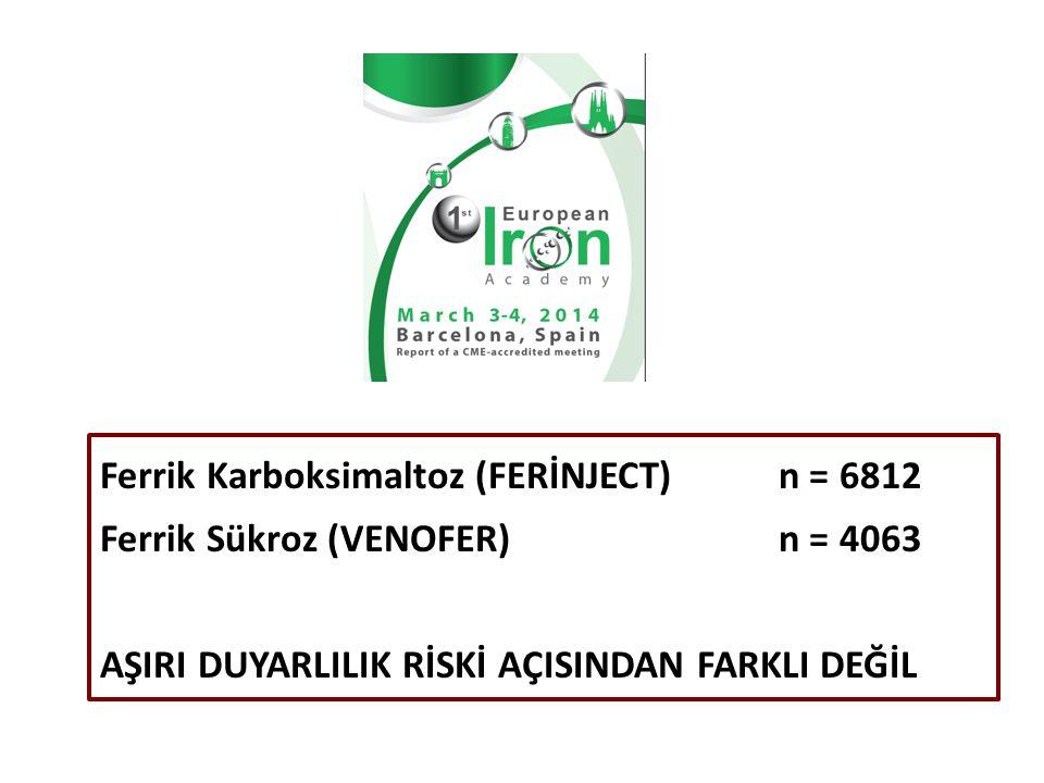 Ferrik Karboksimaltoz (FERİNJECT) n = 6812