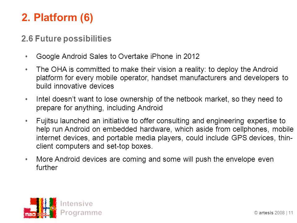 2. Platform (6) 2.6 Future possibilities
