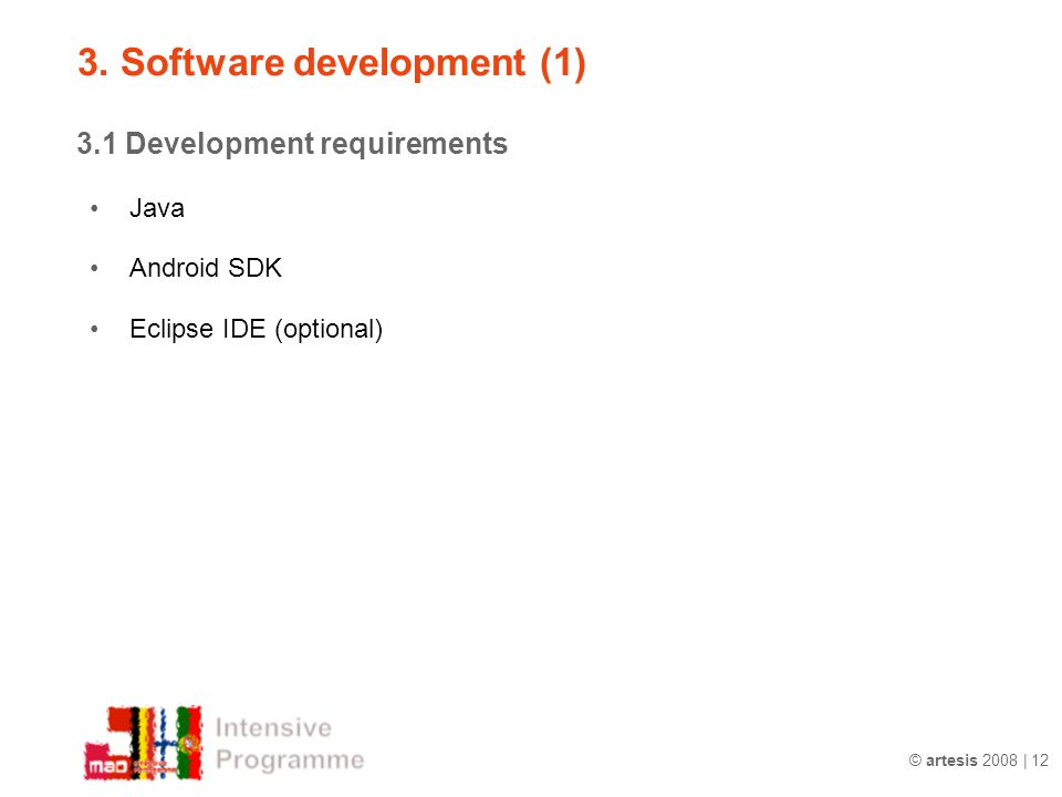 3. Software development (1)