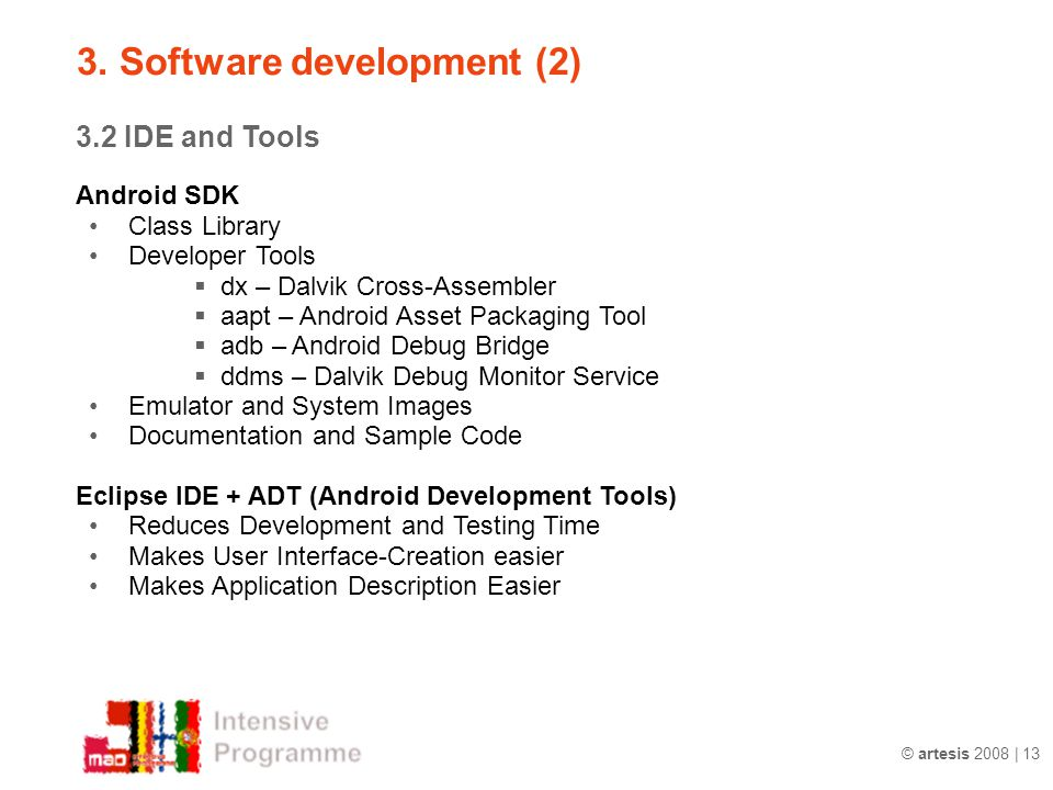3. Software development (2)