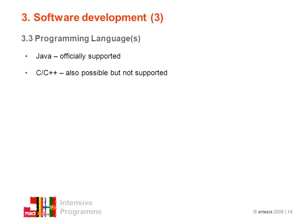 3. Software development (3)
