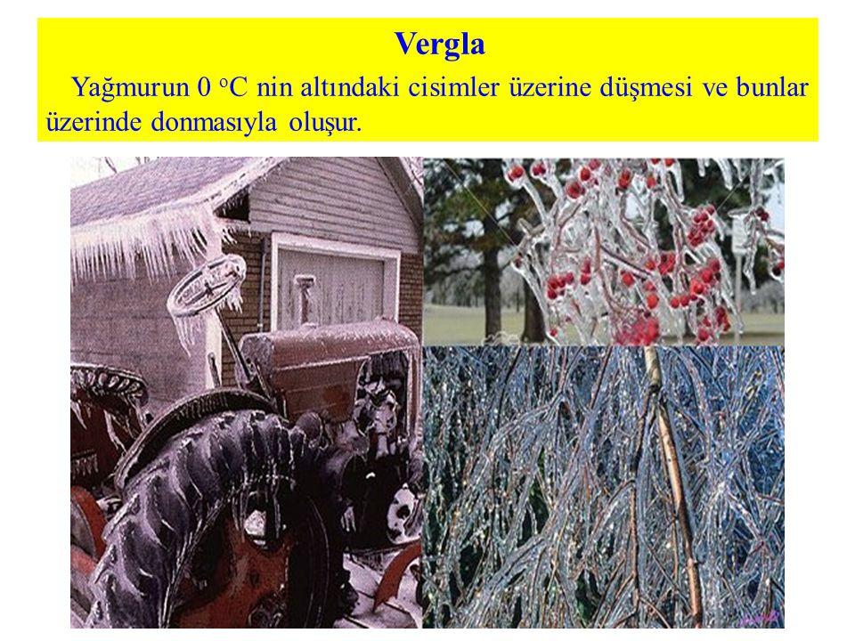 Vergla Yağmurun 0 oC nin altındaki cisimler üzerine düşmesi ve bunlar üzerinde donmasıyla oluşur.