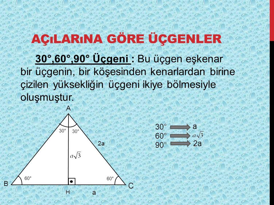 Açılarına göre üçgenler